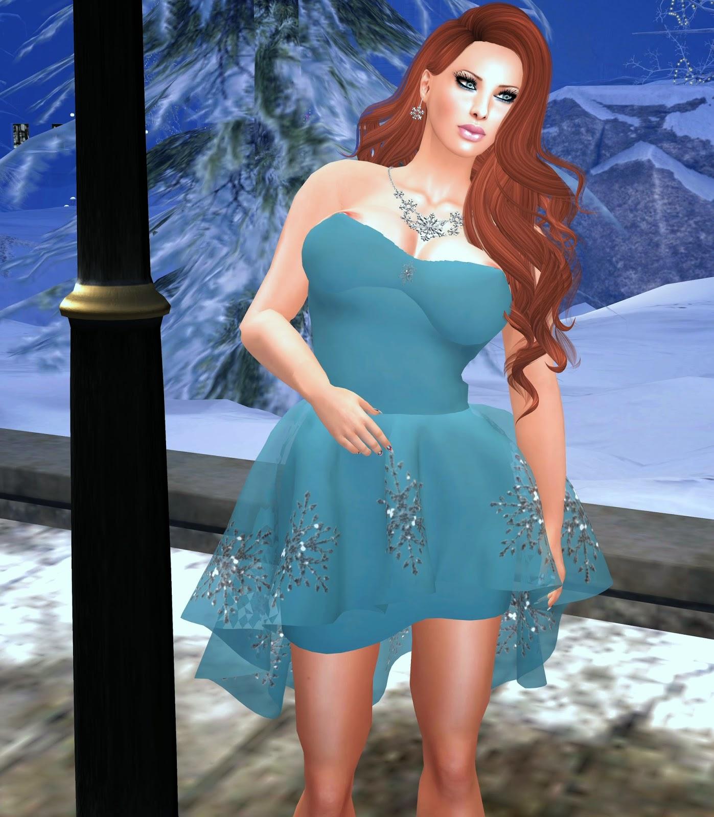 pink sugah christmas holiday dress, cleavage birthday bash