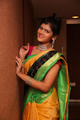 Sangeetha Kamath dazzling saree photos-thumbnail-18