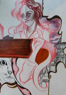 La mia arte sull'Arte (bisticcio di parole solo apparente) Lei-e-la-gatta