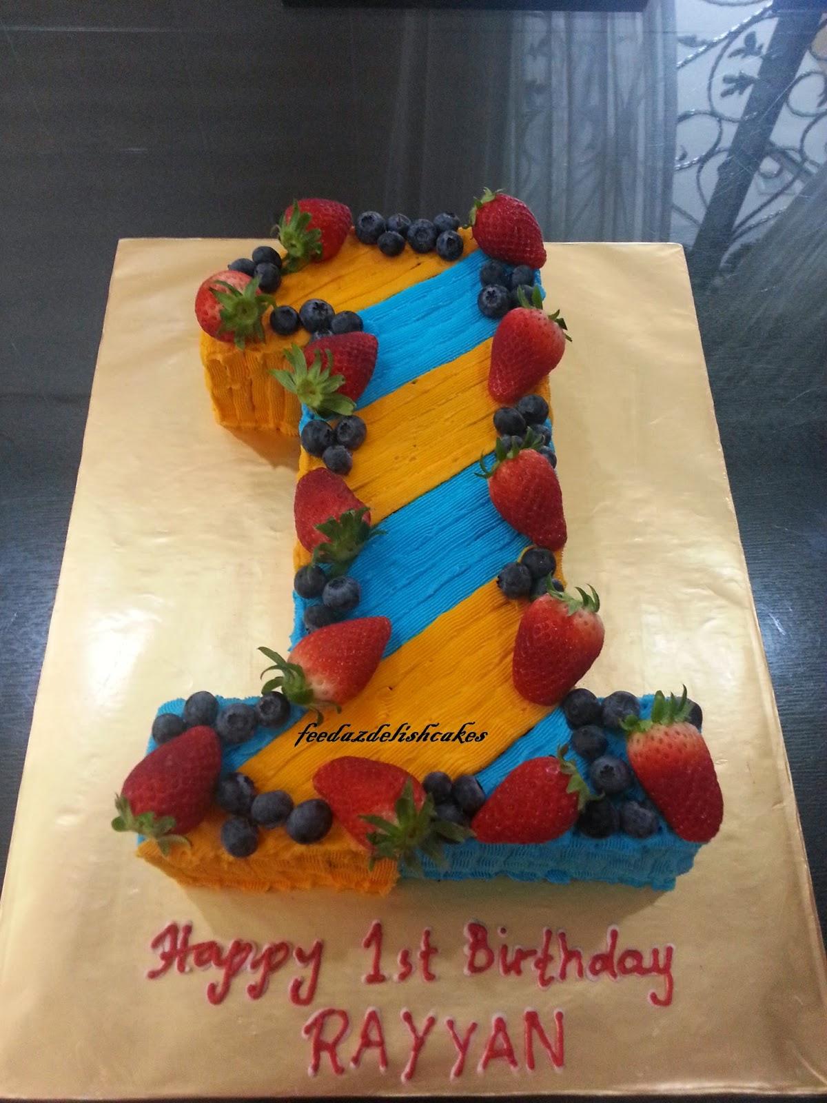 Feedazdelishcakes Number 1 Shaped Moist Choc Cake With Choc Ganache