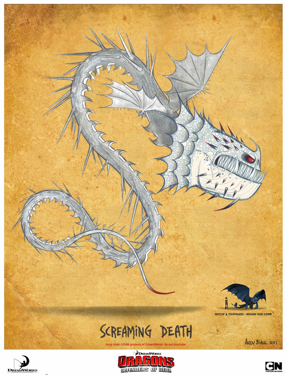 andy bialk screaming death dreamworks dragons defenders of berk
