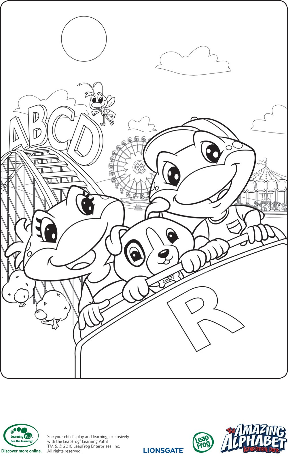 Leapfrog Alphabet Coloring Pages : New dvd titles from leapfrog wee share