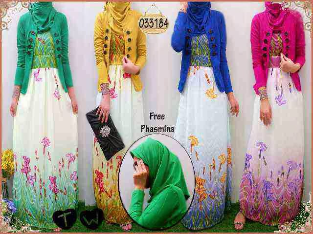 Aida Maxi Dress Ceruty Bunga