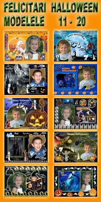 Felicitari  Halloween - Modelele  11 - 20