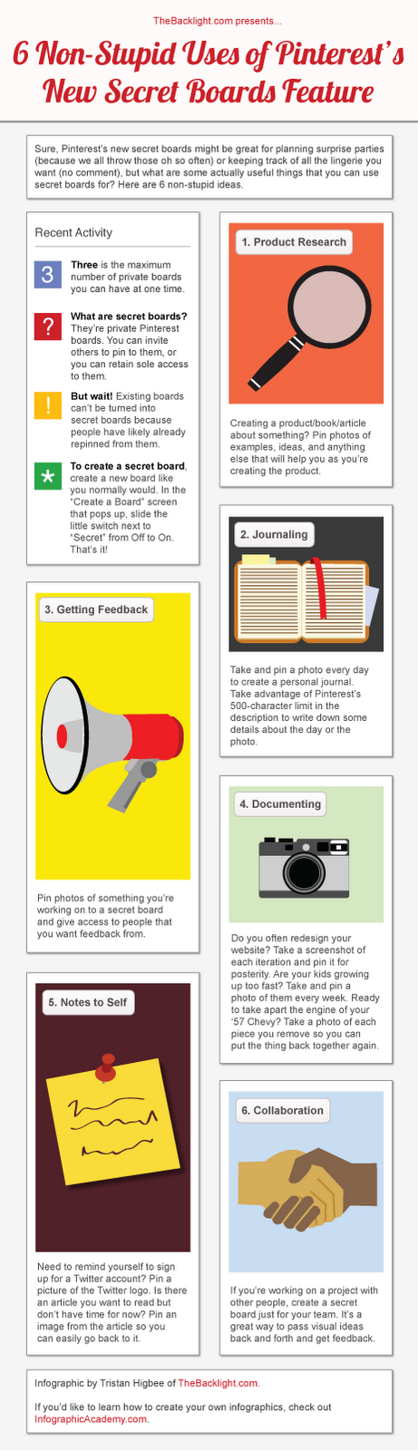 pinterest secret board infographic