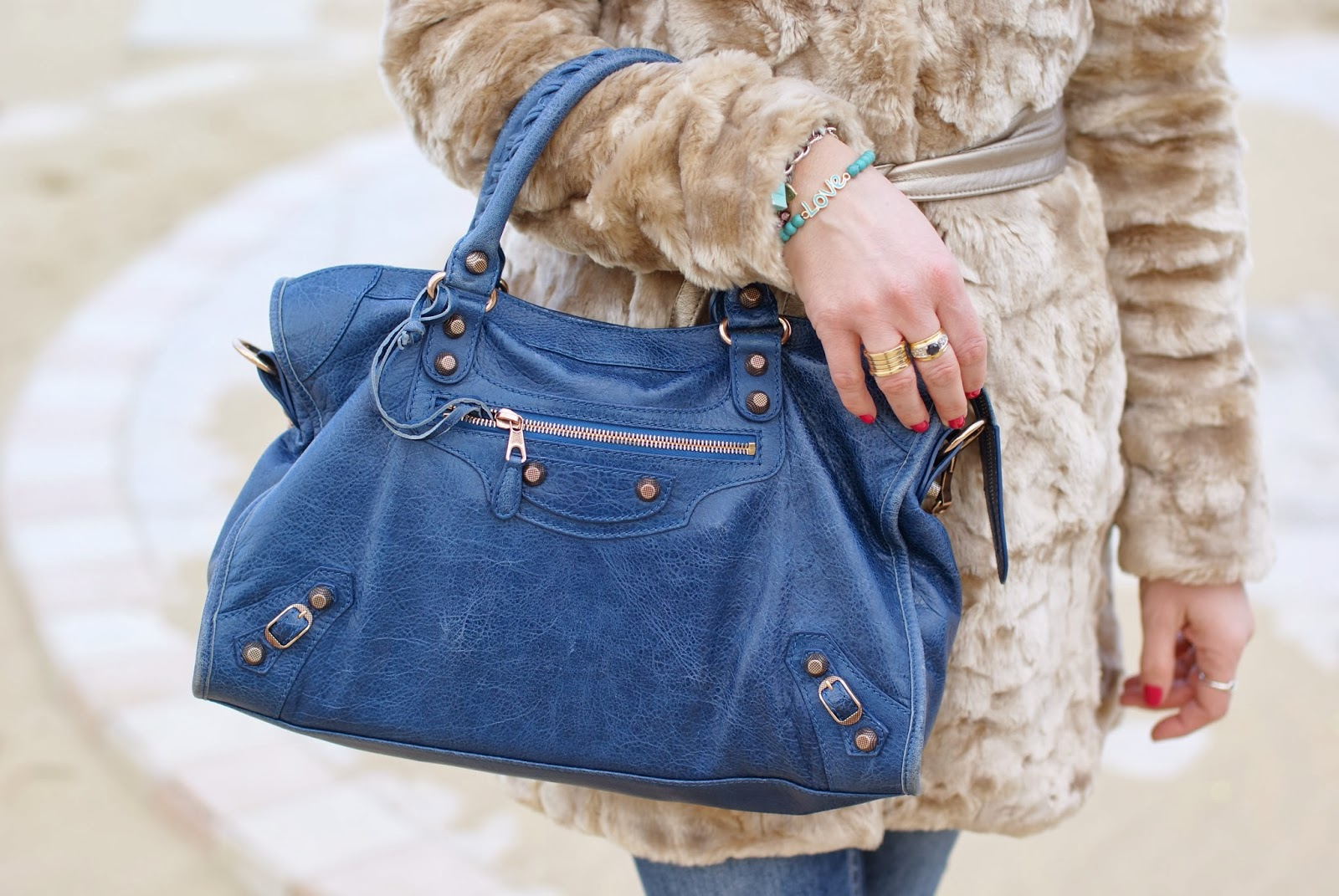 Balenciaga City in cobalt blue, Fashion and Cookies, fashion blogger