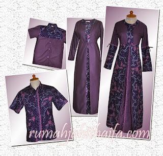 Foto Model Baju Batik Sarimbit Kombinasi