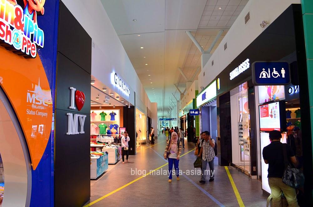 Domestic arrival shopping area of KLIA2
