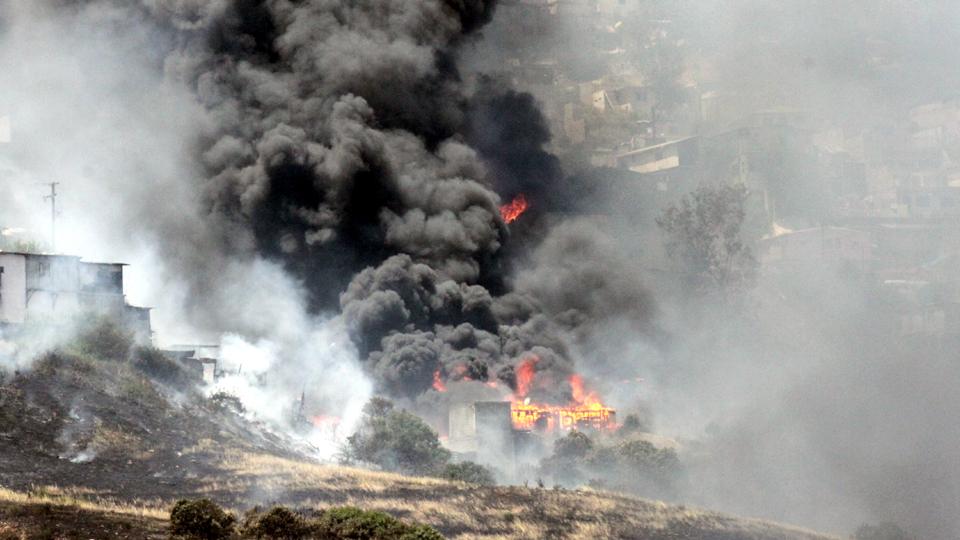 Rosarito En La Noticia Reportan Fuertes Incendios En