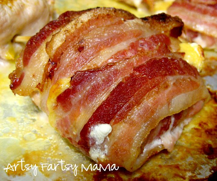 Baked Bacon Wrapped Chicken Artsy-fartsy mama: bacon wrapped chicken