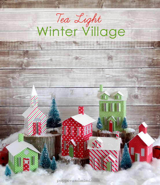 DIY Tea Light Winter Paper Village