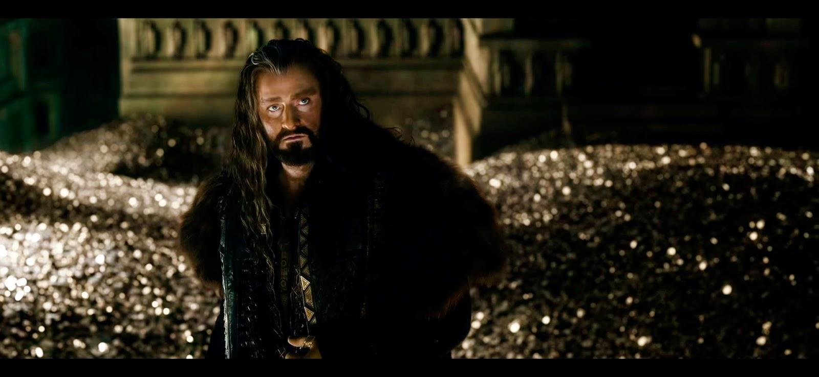 Thorin poseído por la locura de la codicia.