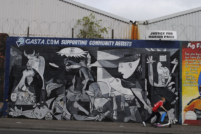 Guernical Peace Mural in Belfast, Northern Ireland