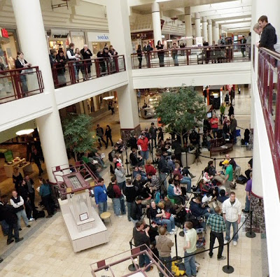 the line for the new ipad