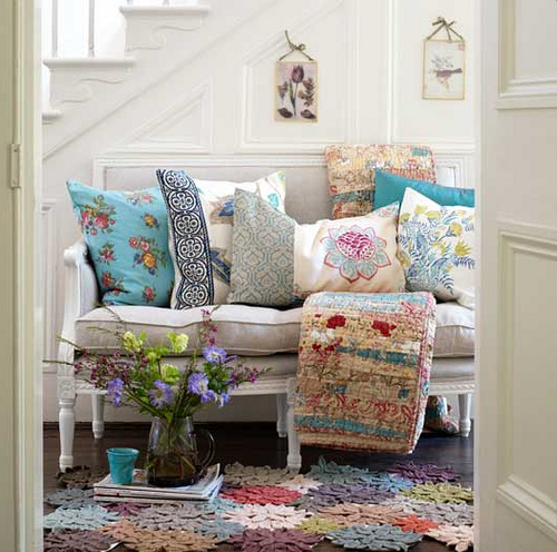 The Country Cottage Style For Home Inspiration By Kimberly: Home Quotes: Theme Inspiration: 15 Hallway Decorating Ideas
