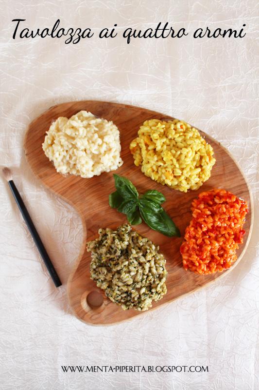 tavolozza di risotti ai quattro aromi