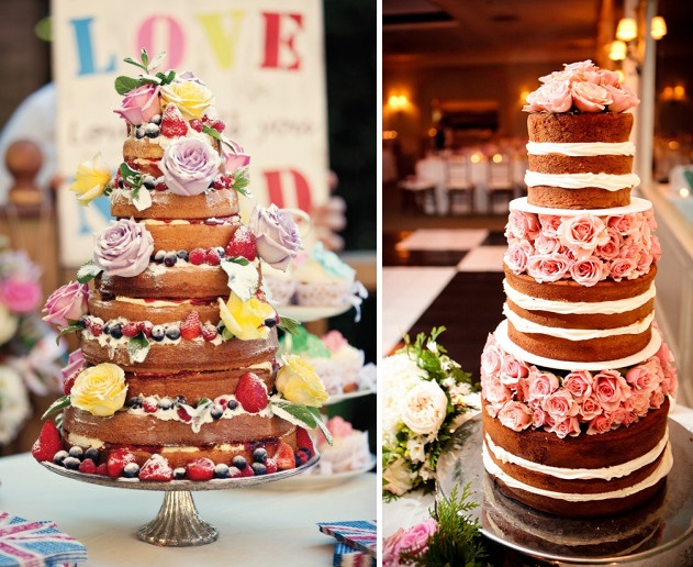 Bit Of Wedding Inspiration Today We Are Looking To Have A Naked Cake Or Put Simply Without The Icing I Think They Look So Pretty
