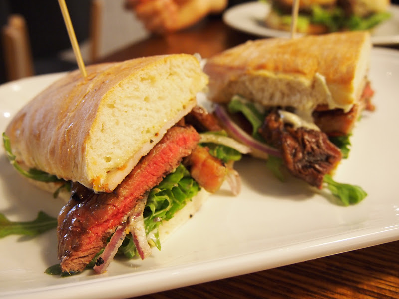 Back Bar Steak Sandwich : Grilled 100% grass fed scotch fillet, crispy ...