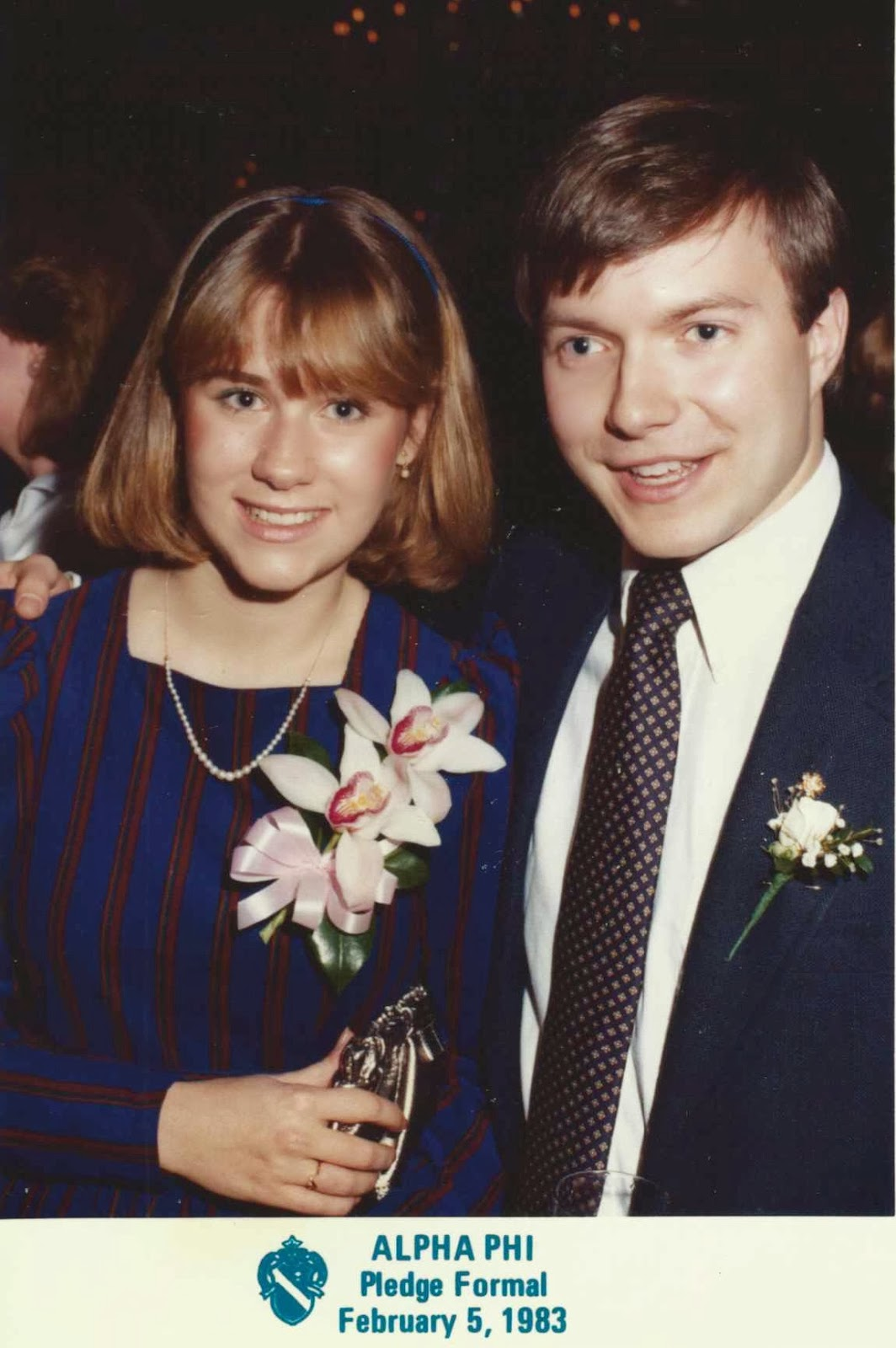 Alpha Phi Pledge Formal, Winey Mom and Winey Hubby, 1983
