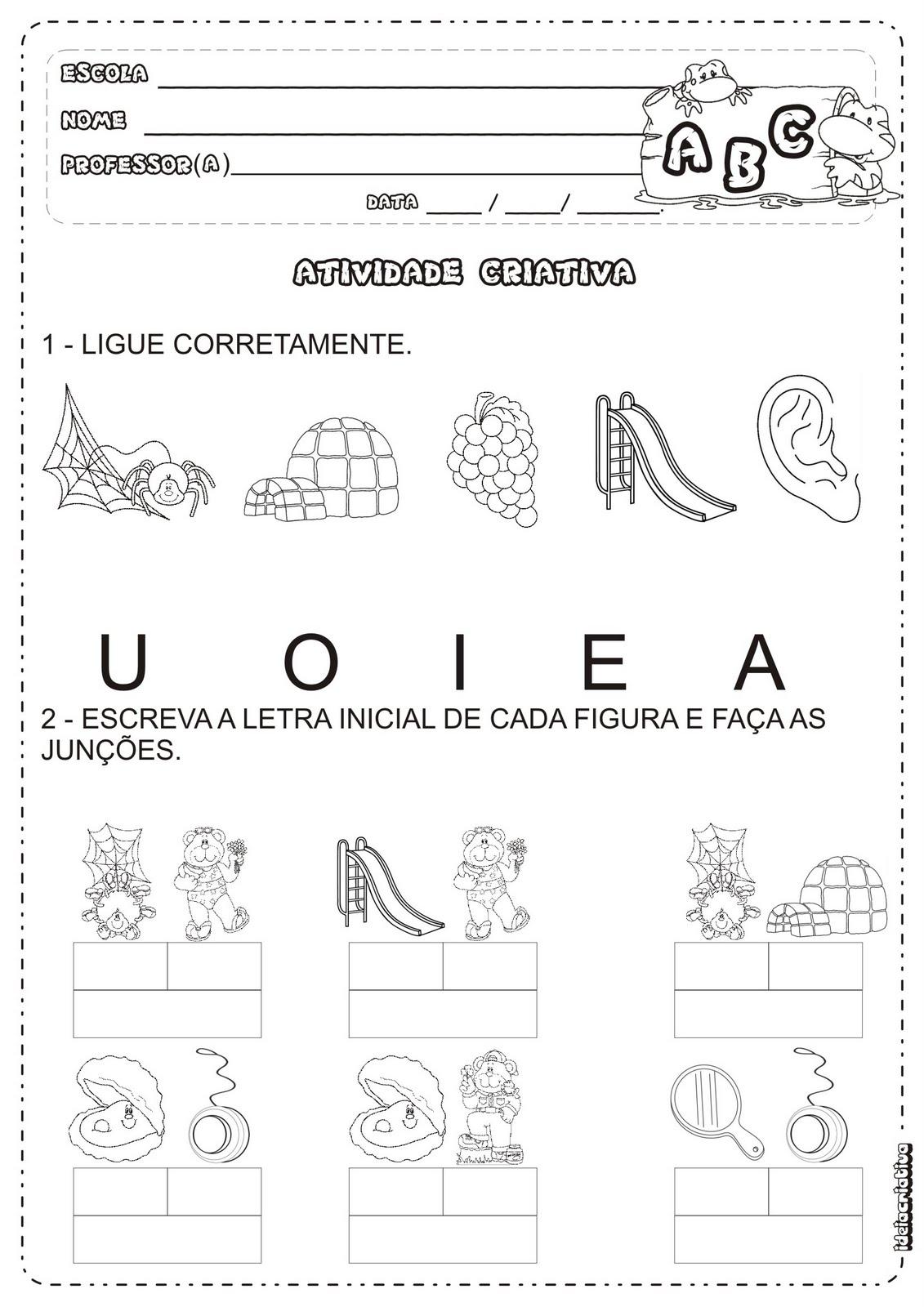 Super Atividades Vogais e Junções | Ideia Criativa - Gi Barbosa Educação  FR83