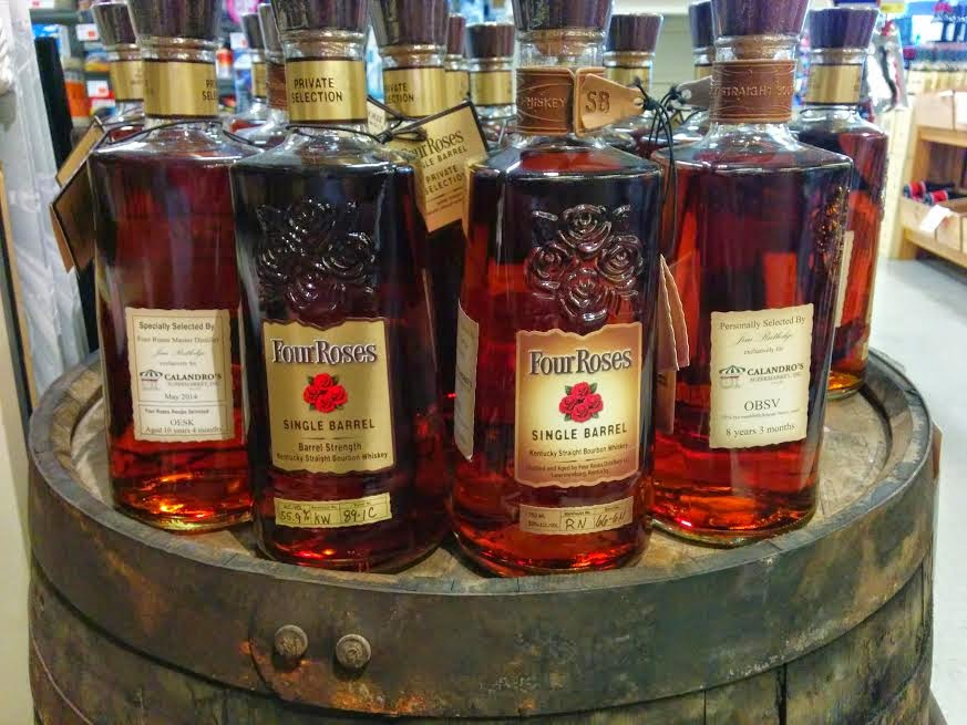Four Roses Single Barrel Bourbons at Calandro's