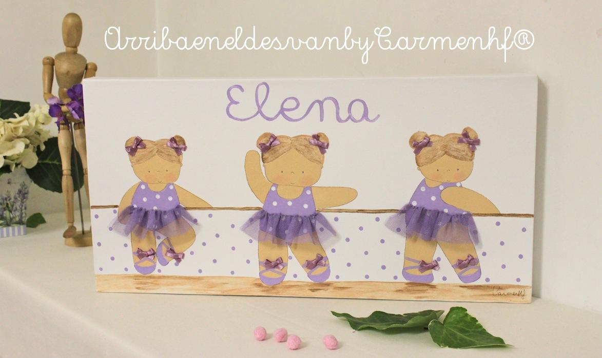 Lienzo infantil para elena bailarinas de ballet - Cuadros bailarinas infantiles ...