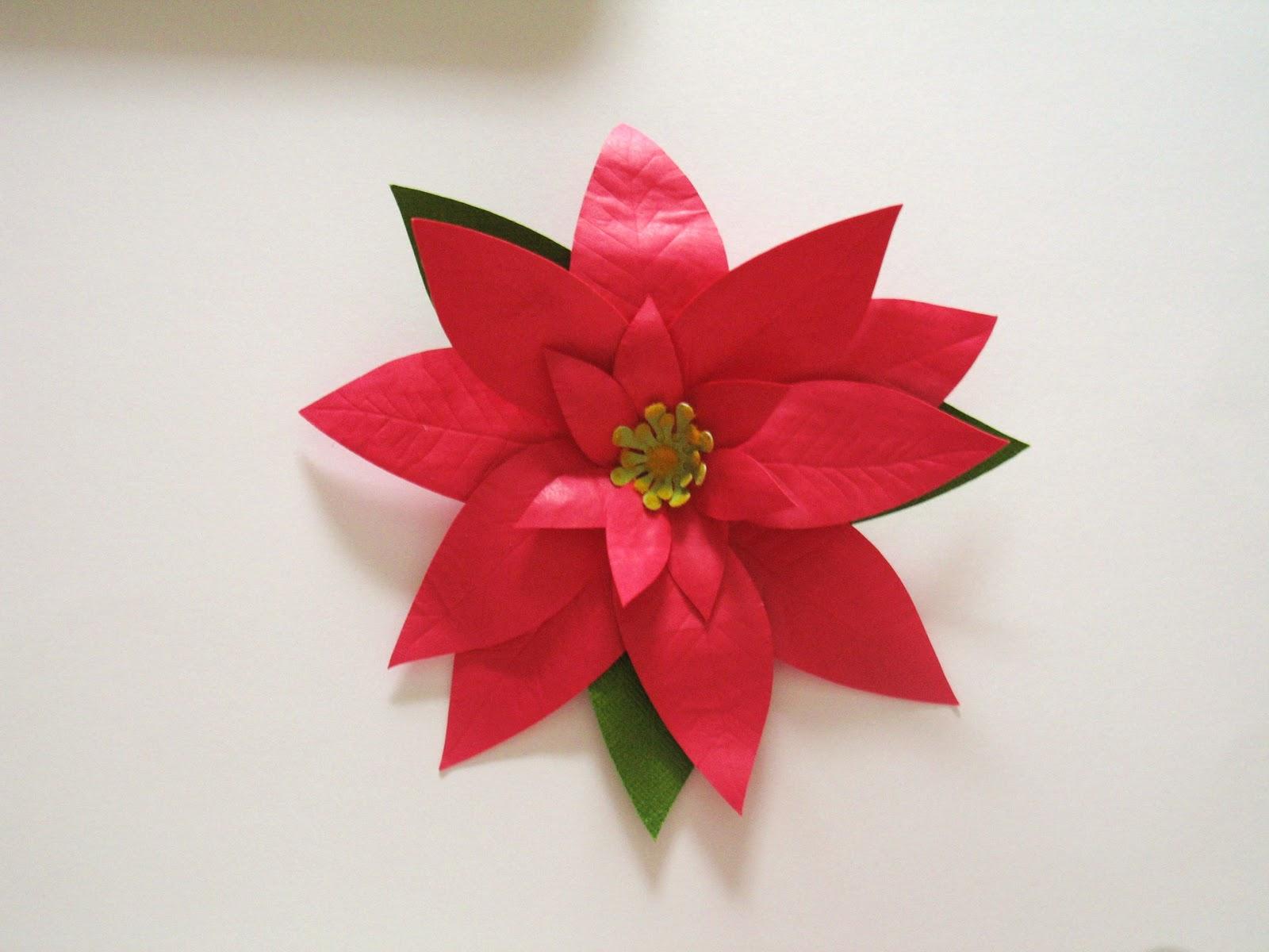 Zoe Bean Design Paper Poinsettias And Christmas Trees