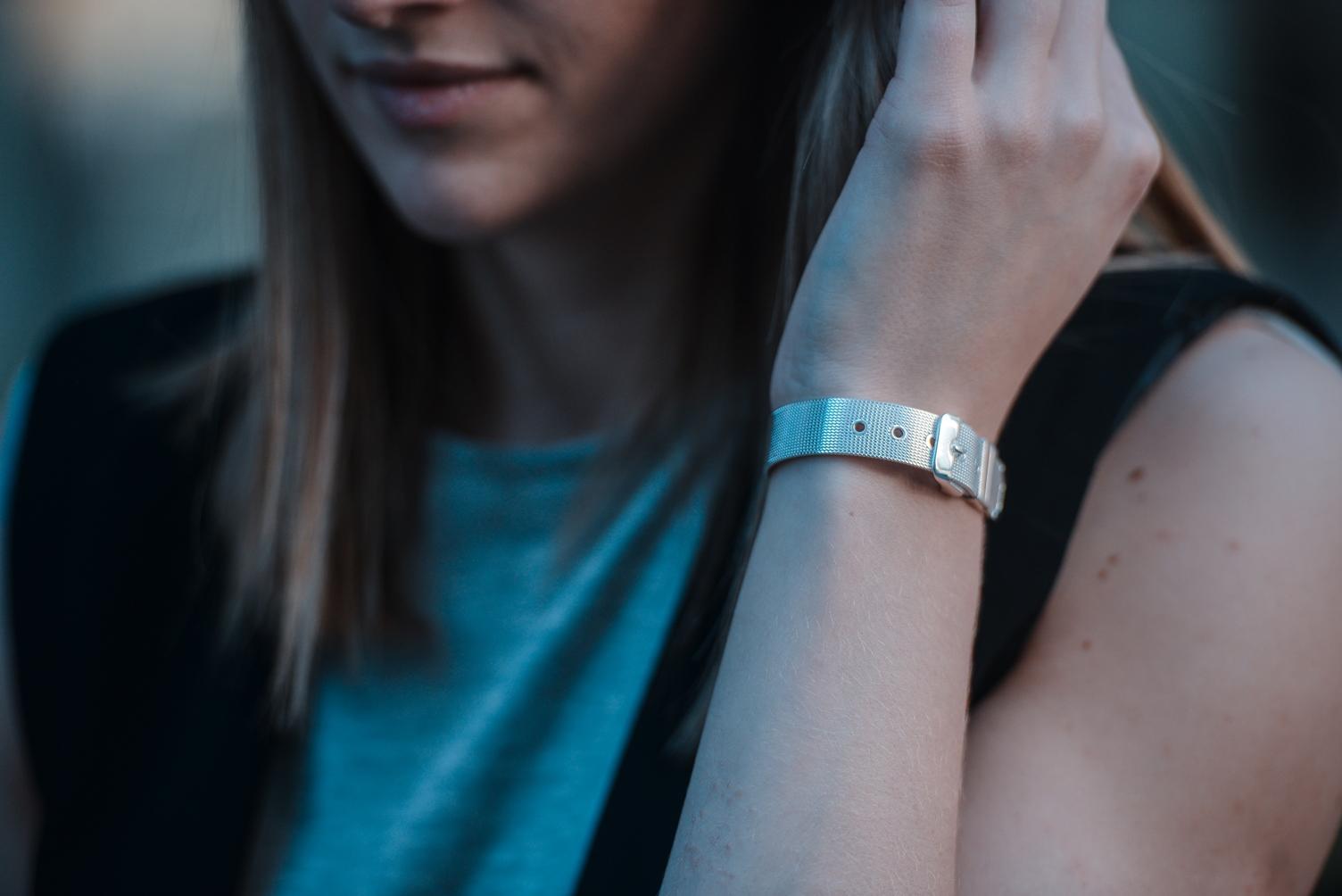 belt silver bracelet golden eight, blogger