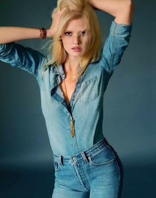 Lara Stone topless Marie Claire magazine France May 2015 photoshoot
