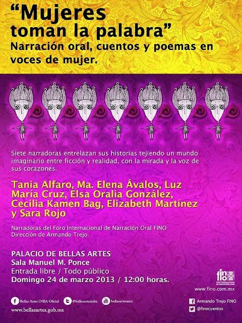 Narración oral, cuentos y poemas en voces de mujer