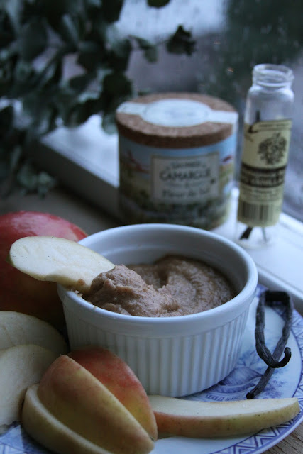 My New Roots Sarah Britton Healthy Raw Salted carmel dip apple