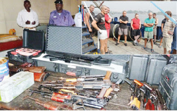 weapon smugglers arrested lagos nigeria