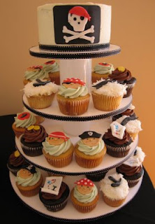 Beautiful Pirates Birthday Cake Cupcakes