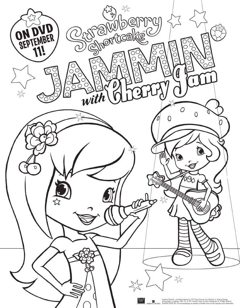 Free Printable Strawberry Shortcake Coloring Page Jinxy Kids
