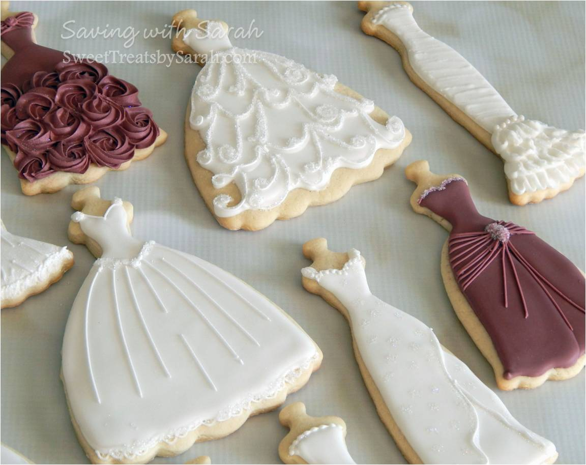 Wedding Dress Cookies - House Cookies