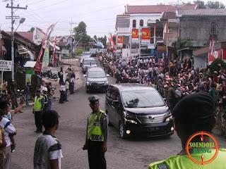 Rombongan Presiden SBY di Poncol Magetan