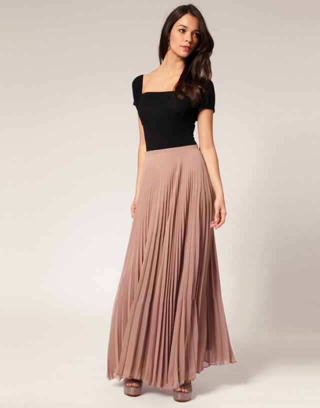 Innovative Pink Long Skirt  Maxi Chiffon Skirt  UsTrendy