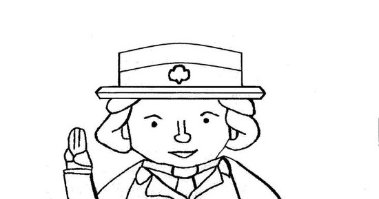 juliette low coloring page - girl scouts of southwest texas blog flat juliette