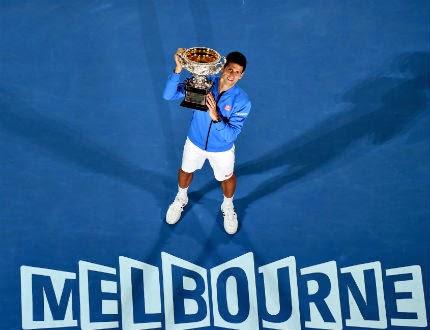Новак Джокович, триумфира в тазгодишното издание на първия турнир от Големия шлем за 2015 - Australian Open