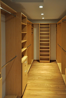 Walk in custom closet system