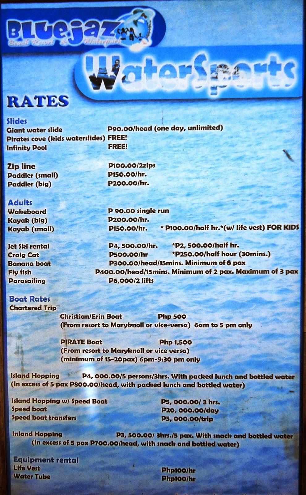 Blue Jazz Resort Room Rates