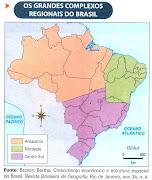 A regionalização do Brasil. Postado por Ivanilda Freitas Dornelles às 17:00 (mapa brasil complexos regionais)