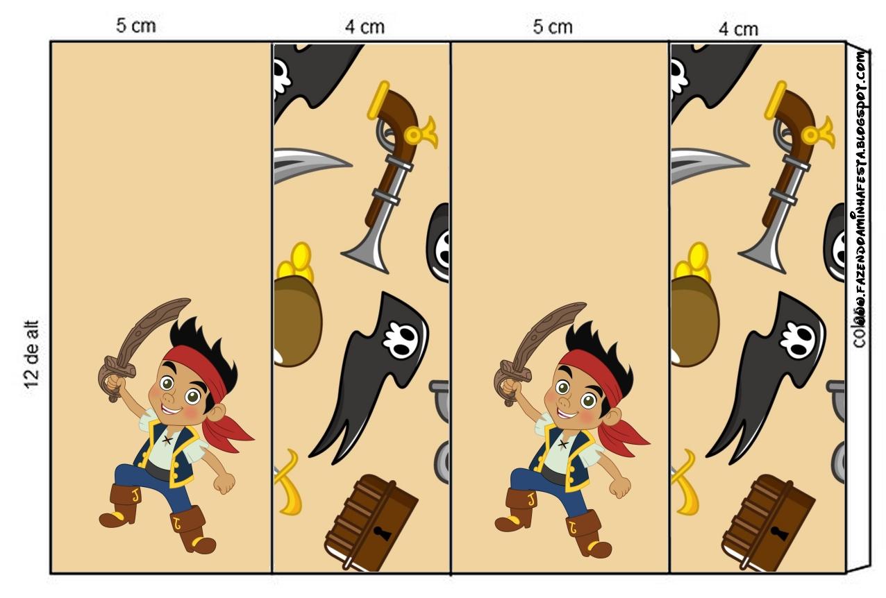 Etiquetas Imprimibles de Jake y los piratas de Nunca Jamás