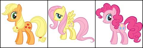 Applejack Fluttershy Pinkie Pie Pony