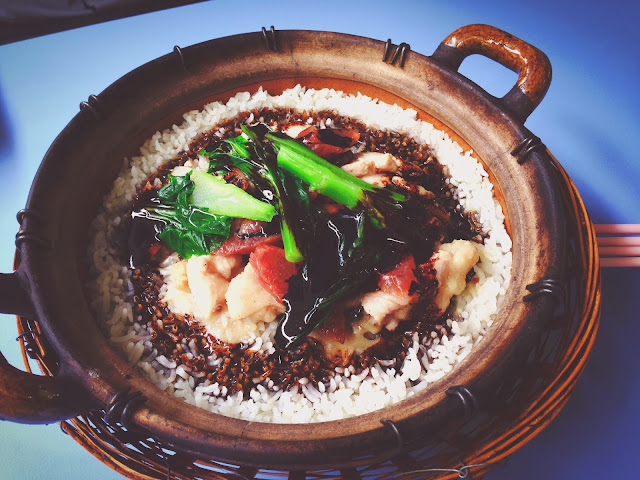 Claypot rice at Yuan Fa Claypot Chinatown