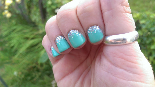 My finished nails looking really pretty