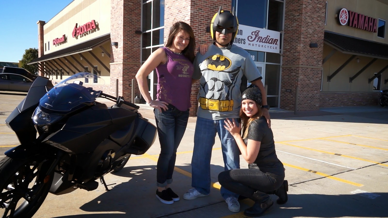 Batman's new bike brings the Harley-Davidson Girls out