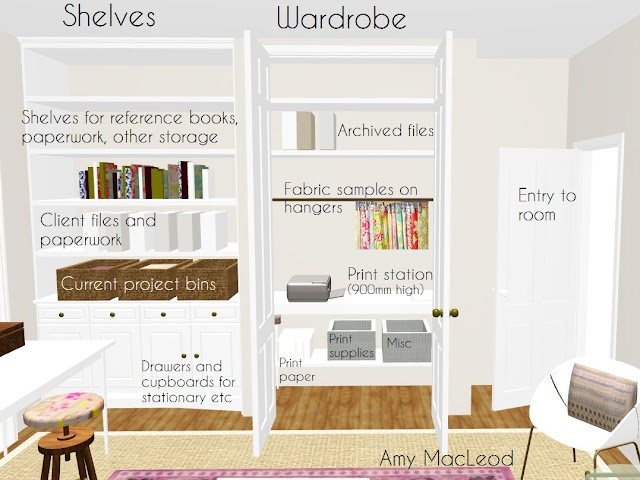 Home Office design by Amy MacLeod - practical and beautiful