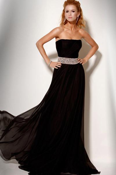 coiffurete dance robe de soir e noire longue. Black Bedroom Furniture Sets. Home Design Ideas