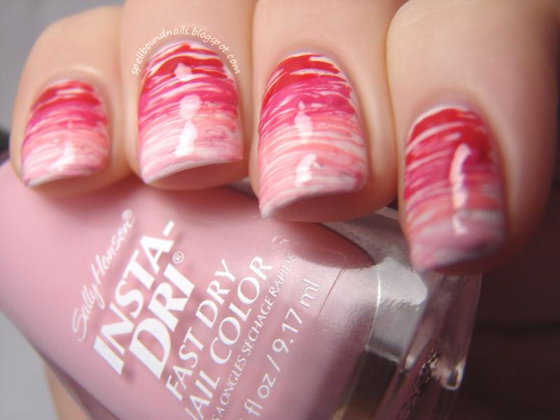 Nail Art Style Spun Sugar Gradient